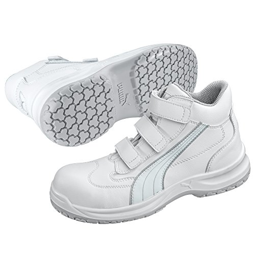Puma Safety Sicherheitsschuhe WhiteN Service Absolute Mid S2 63.018.2, Hochschuhe, weiß, Größe  43, 47-630182-43