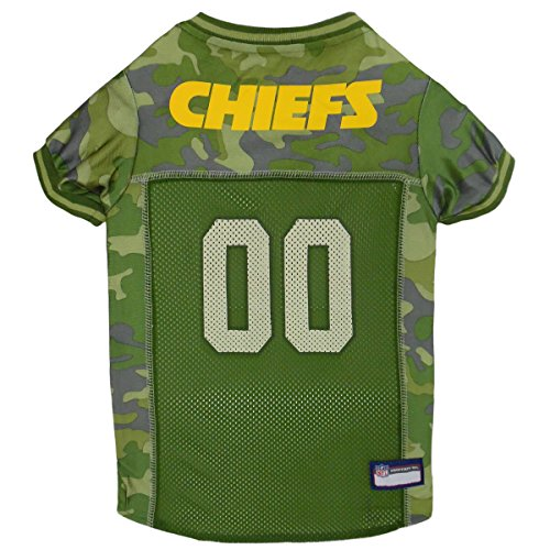Halloween City Denver Co (NFL Kansas City Chiefs Camouflage Dog Jersey, Medium. - CAMO PET Jersey Available in 5 Sizes & 32 NFL Teams. Hunting Dog)