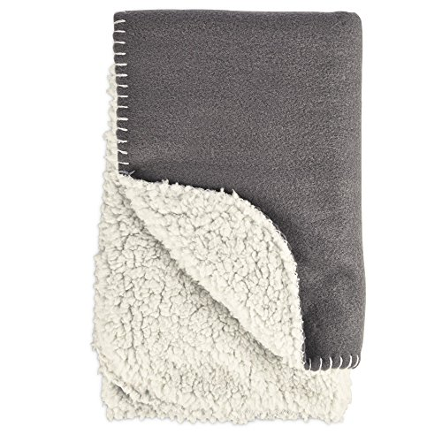 HARMONY Cozy Sherpa Pet Throw in Dark Grey, 24