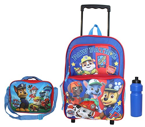 New Paw Patrol Boys Rolling Backpack