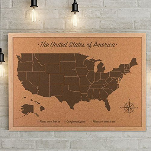 united states map on cork board - 3