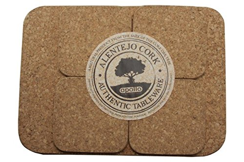 Apollo Placemat and Coaster, Cork, Set of 4 1634