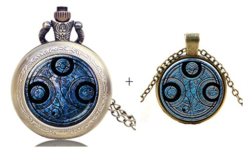 Inspired Doctor Who Gallifreyan Time Lord Pocket Watch Necklace + Pendant Necklace Charms from Unknown