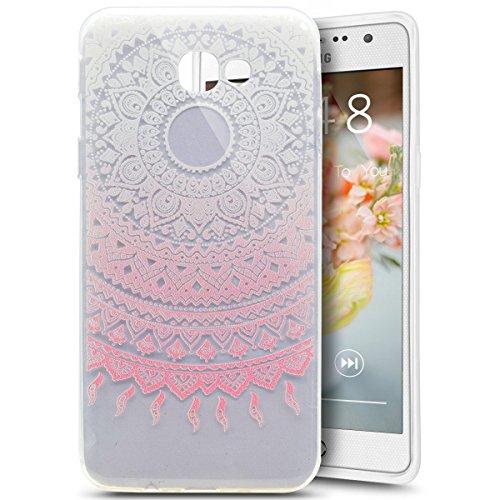 Funda Cover Samsung Galaxy A5(2017),Ukayfe Bling Funda Case para Samsung Galaxy A5(2017),Samsung Galaxy A5(2017) 3D Crystal Centelleo Cover Funda caja del gel TPU Silicona con Bling del brillo del Pla Design Pink Mandala