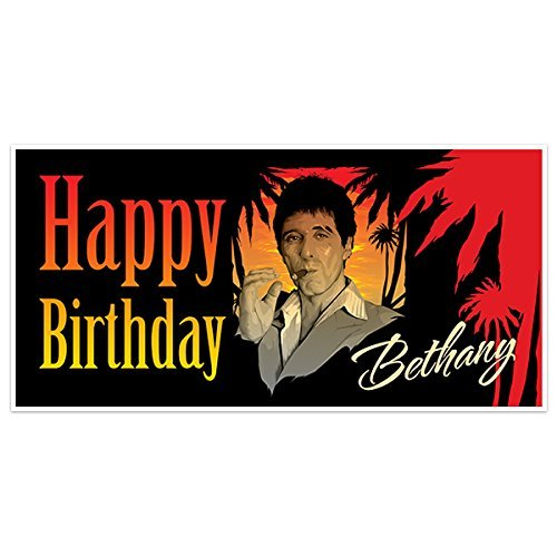 Scarface Movie Film Birthday Banner Party Decoration Backdrop