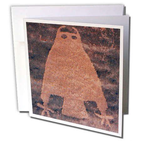 3dRose Danita Delimont - Artwork - Usa, Utah, Owl Panel, ancient petroglyph - 12 Greeting Cards with envelopes (gc_260267_2) (Petroglyph Panel)