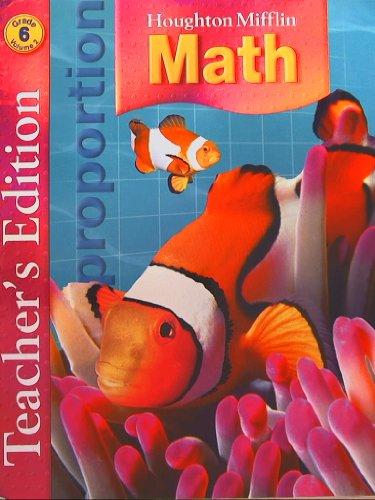 Houghton Mifflin Math: Teacher Edition, Grade 6, Vol. 2