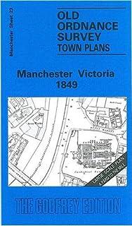 Manchester London Road 1849 Manchester Sheet 34 Old Ordnance