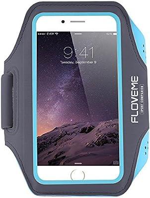FLOVEME Brazalete Deportivo para iPhone 6 / 6S Bandas para el brazo Impermeable Antideslizante para Correr / Gimnasio / Curso con Velcro Ajustable Compatible con iPhone, Samsung Galaxy, HTC y otros Teléfonos