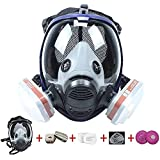 17 in 1 Full Face Respirator Widely Used in Organic Gas, Anti-Dust, Paint Sprayer, Chemical, Woodworking