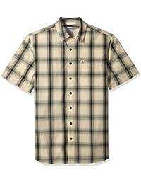2dce4edd3e57d8 Men s Big and Tall Big   Tall Essential Plaid Open Collar Short Sleeve Shirt