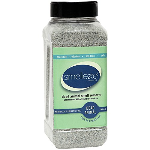 (SMELLEZE Natural Dead Animal Odor Removal Granules- 2 lbs.: Eliminate Dead Rat, Mice, Squirrel, Chipmunk, Raccoon & Bat Smell. Safe for Outdoor Use)