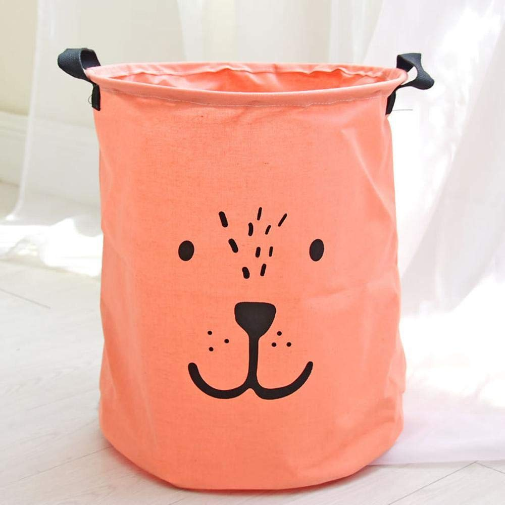 Ludage Home fabric Storage Box Dirty clothes bucket animal expression dirty clothes basket storage Barrel Cotton Hemp Storage Barrel
