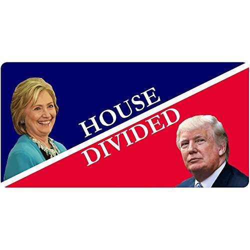 House Divided Hillary Clinton/Donald Trump Funny Decal Sticker | Political Bumper ()