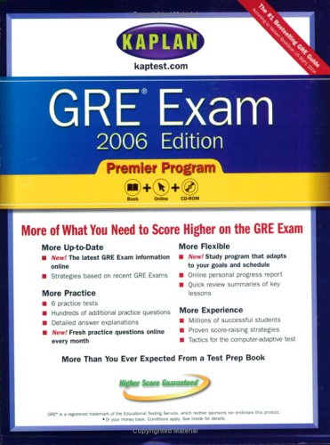 Kaplan GRE Exam 2006, Premier Program (Kaplan Gre - Gre Premier Program