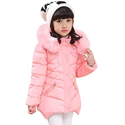 8f3b8623e Amazon.com  2018 New!!😊2-8 Years Baby Winter Solid Coat Cloak ...