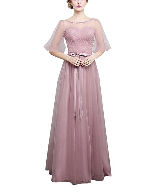ff2f79cbde Mujer Maxi Vestido Encaje De Fiesta Elegante Cabestro Vestidos Sin Tirantes  Vestido De Novia A L