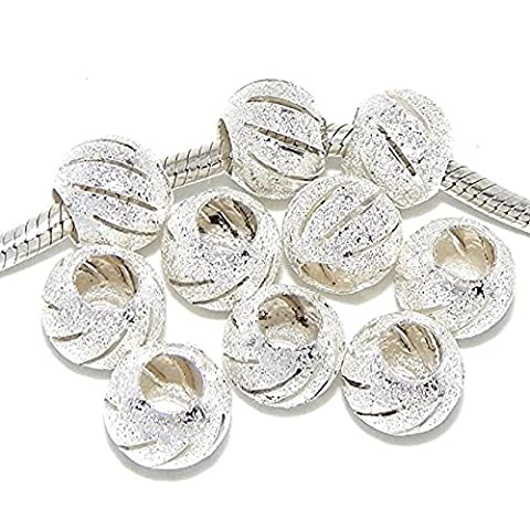 Pro Jewelry Ten (10) Stardust Spacer Beads for Snake Chain Charm Bracelets - Stardust Mix