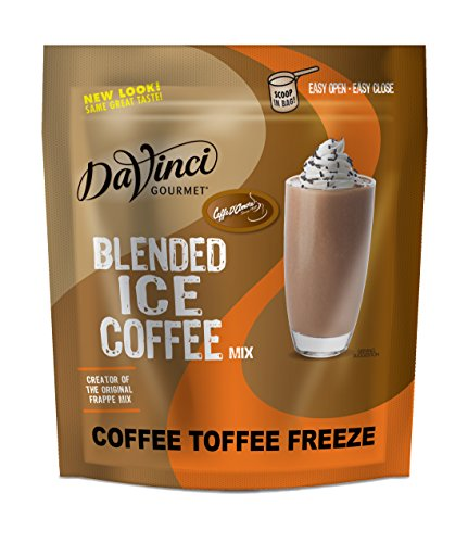 Caffe D Amore Crunch Coffee Toffee Frappe Freeze Blended Ice Coffee Mix, 2.75 Pound -- 5 per case. by Caffe d