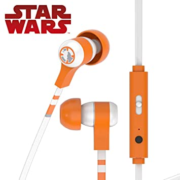 Tribe Star Wars - Auriculares in-ear con cable y micrófono I In-Ear estéreo para para Iphone, Android, Movil, PS4, XBOX, PC, Computador - diseño BB8