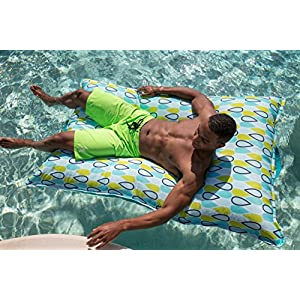 Big Joe Lagoon Lounger Cool Geo Drop Bean Bag, Multicolor