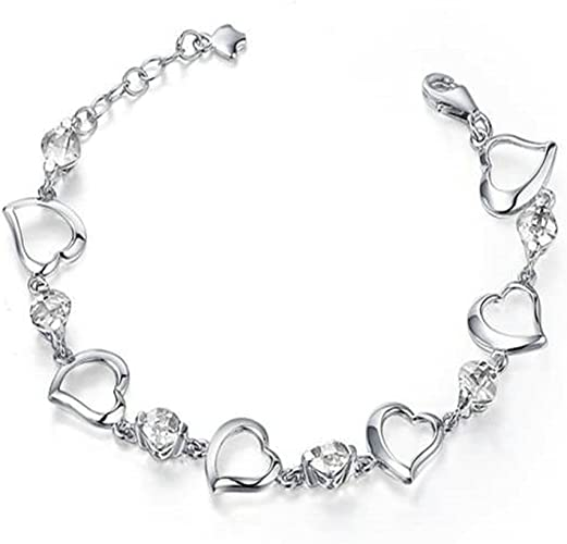 """New 7/"""" 925 Sterling Silver Brilliant Double Link Curb Chain Bracelet 4.5mm Wide"""