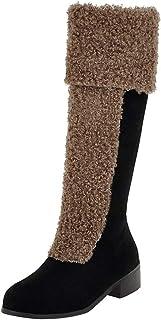 Donna,Stivaletti,Scarpe,Sneakers,Stivali da Donna Scarpe Invernali Stivali da Neve Caldi Pelosi Stivali da Caviglia Stivali centrali,Nero, Marrone, Giallo35-43