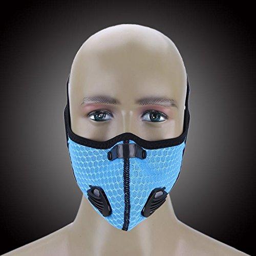 Linker Wish Half Face Mask Winter Breathable Mesh Bicycle Mask Dust Smog Windproof Protective Nylon Mesh Bike]()
