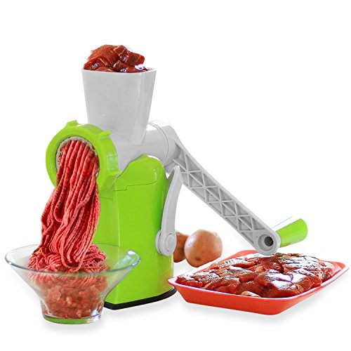 Zalik 4-In-1 Meat Grinder And Juicer - Hand Crank Manual Mincer With Powerful...