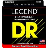 DR Strings Hi-Beam Flats-Flatwound Stainless Steel Round Core Bass 45-105