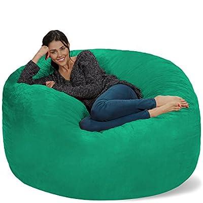 Chill Sack Bean Bag Chair: Giant 5' Memory Foam Furniture Bean Bag - Big Sofa with Soft Micro Fiber Cover