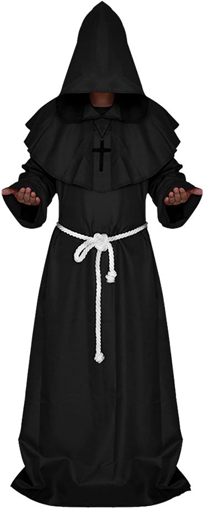 Comficent Halloween Disfraz de Monje Adulto Sacerdote Túnica ...