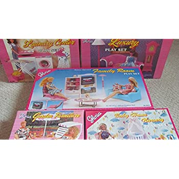 Gloria dollhouse furniture for barbie dolls - Barbie living room dress up games ...