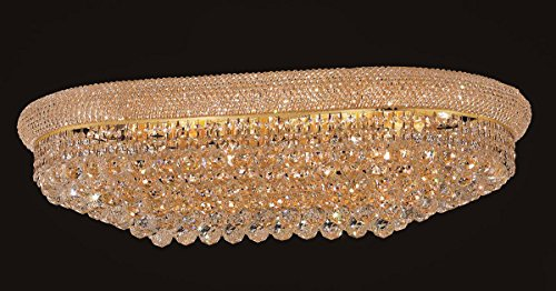 - Primo Collection Crystal Flush Mount Oval L36in W20in H12in Lt:18 in Spectra® Swarovski® Crystal