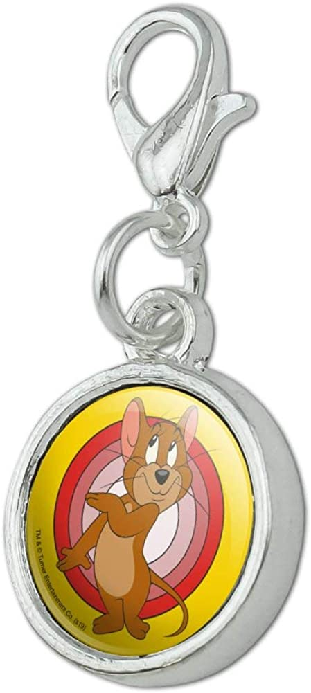 GRAPHICS /& MORE Tom and Jerry Jerry Character Antiqued Bracelet Pendant Zipper Pull Charm with Lobster Clasp