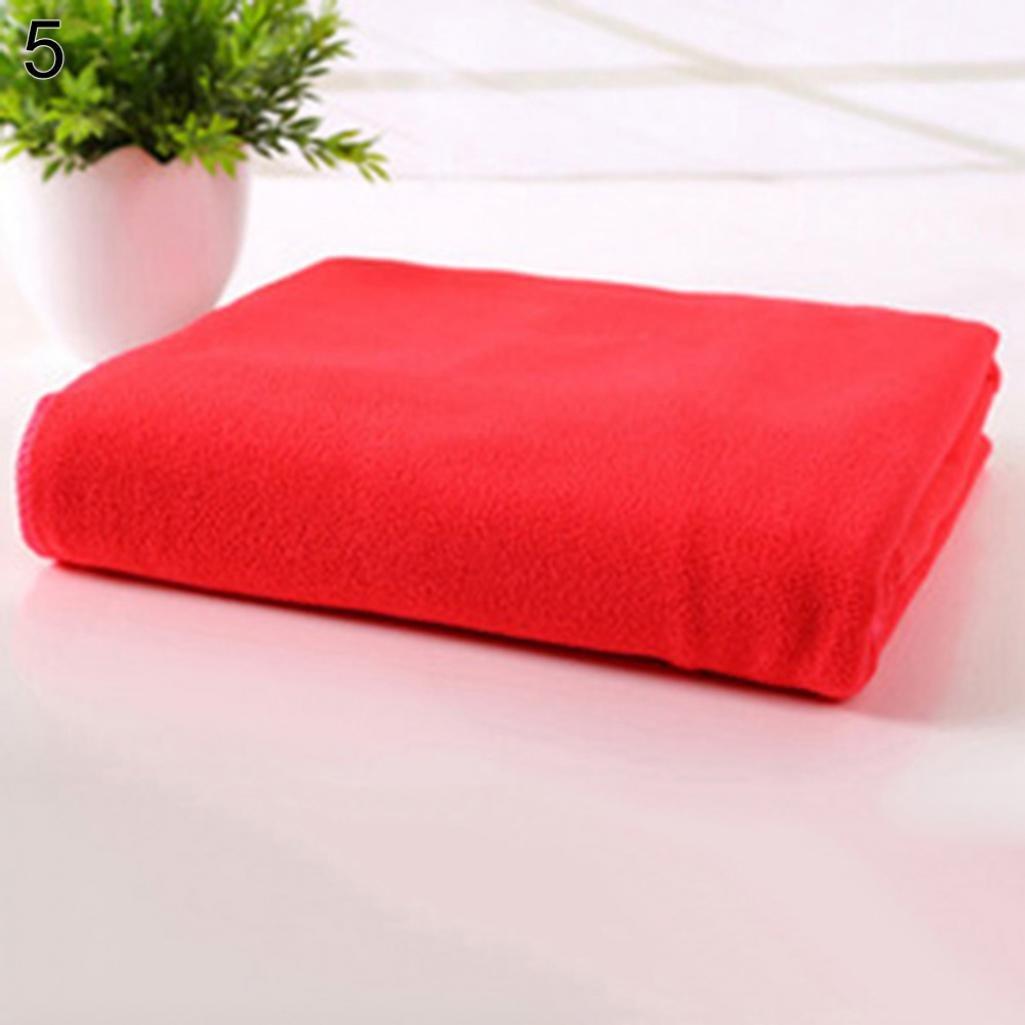 Hearsbeauty microfibra viaggio palestra camping sport rapida essiccazione assorbente pulizia asciugamano 35x 75cm White