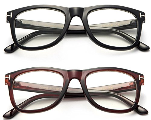 2b905474fb9 Modern Look Squared Vintage Style Thick Frame Fashion Clear Lens Glasses