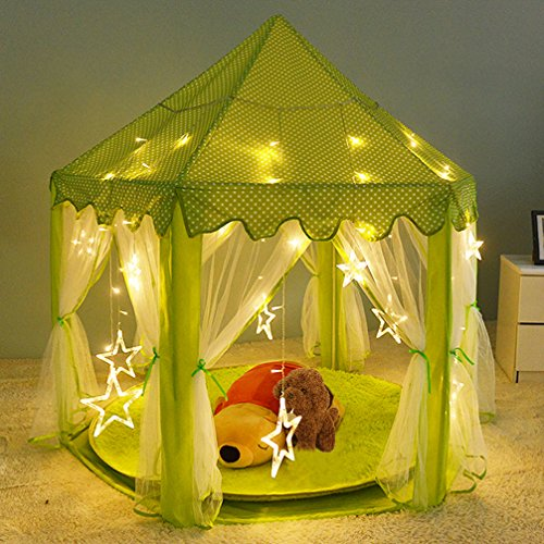 Play Tent Child Princess Castle Indoor and Outdoor Large Play House Game House Green outlet & Play Tent Child Princess Castle Indoor and Outdoor Large Play ...