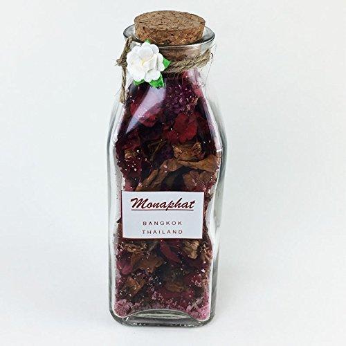 MONAPHAT The Beautiful Glass Bottle Design Decorative with THAI POTPOURRI Fragrance Potpourri #PR-0613 by MONAPHAT