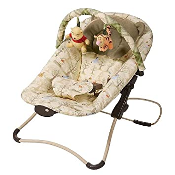 b2c284d0582 Amazon.com   Disney Winnie the Pooh Folding Bouncer   Infant Bouncers And  Rockers   Baby