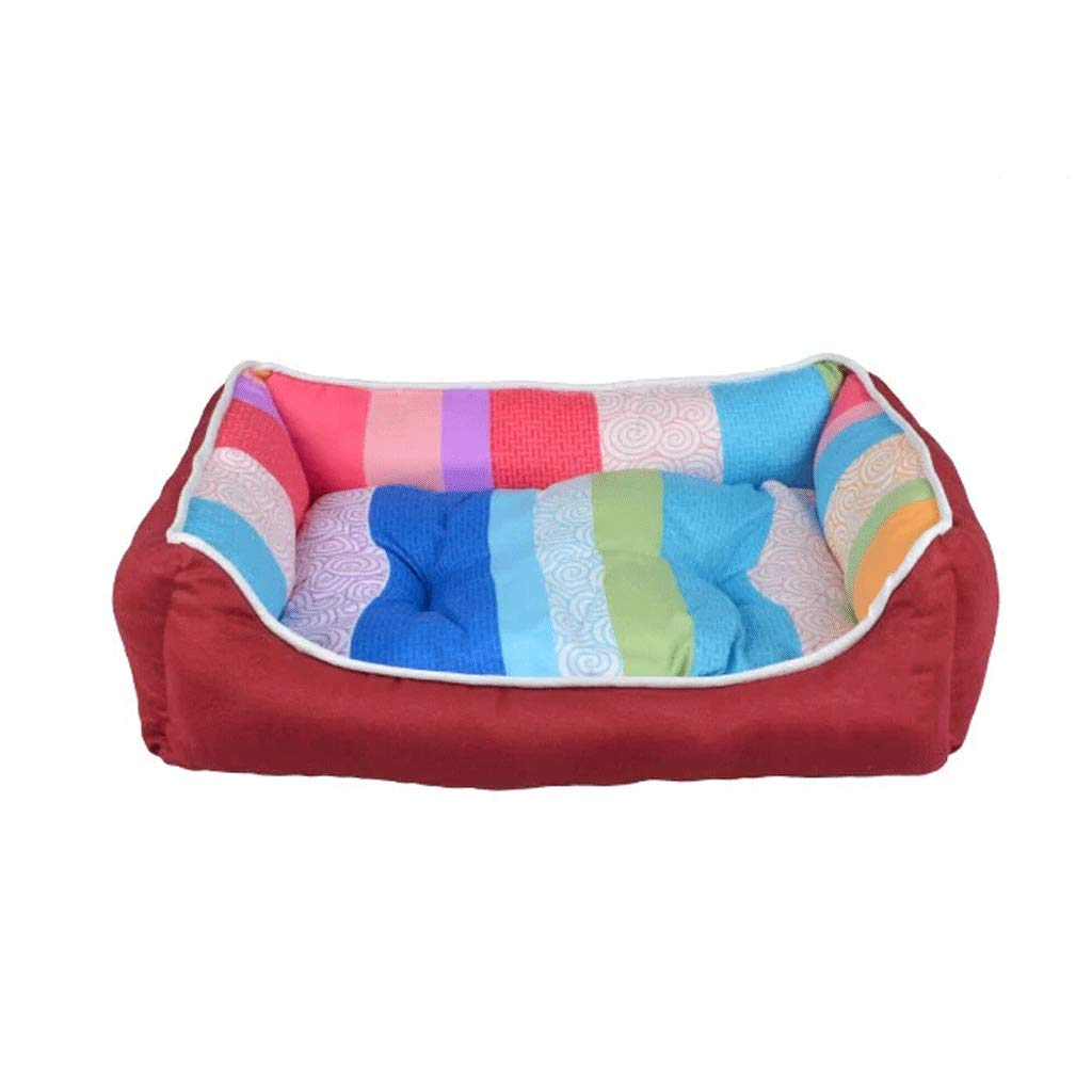 4  5045cm 4  5045cm Hongyan Pet Beds Kennel Cat Litter Pet Nest Small And Medium Dog Washable Dog House Supplies Four Seasons Universal Warm Dog Bed Dog Mat A+ (color   4 , Size   50  45cm)