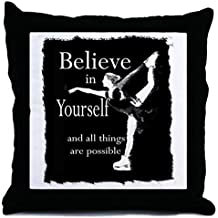 "CafePress - Believe in Yourself (Skater) - Decor Throw Pillow (18""x18"")"