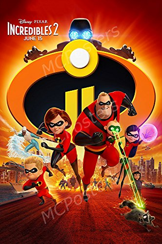 MCPosters Disney Pixar Incredibles 2 GLOSSY FINISH Movie Pos