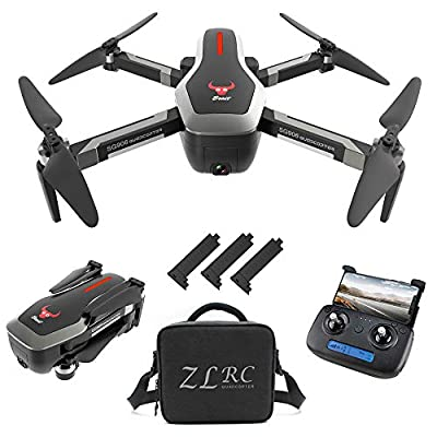 GoolRC SG906 GPS RC Drone with 4K HD Front Camera and 720P Down-Looking Camera, 5G WiFi FPV Foldable Brushless Drone, Optical Flow Positioning Altitude Hold RC Quadcopter with Handbag and 3 Battery: Toys & Games