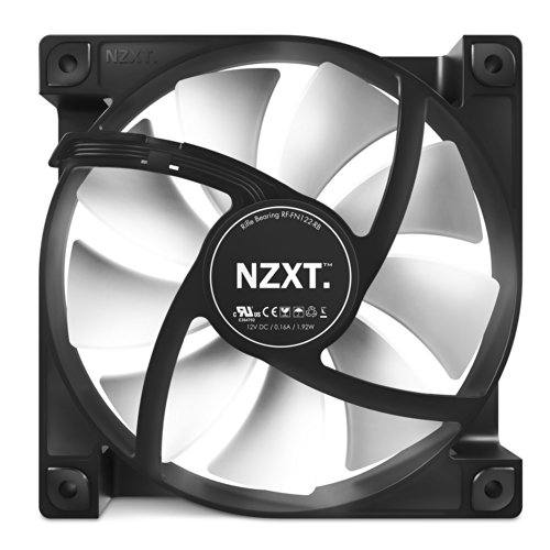 NZXT FN V2 120mm Performance Case Fan Cooling (RF-FN122-RB)