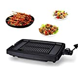 YIZAO Electric Reversible Grill Griddle with Removable Nonstick Plate Temperature Control for Indoor/Outdoor Camp