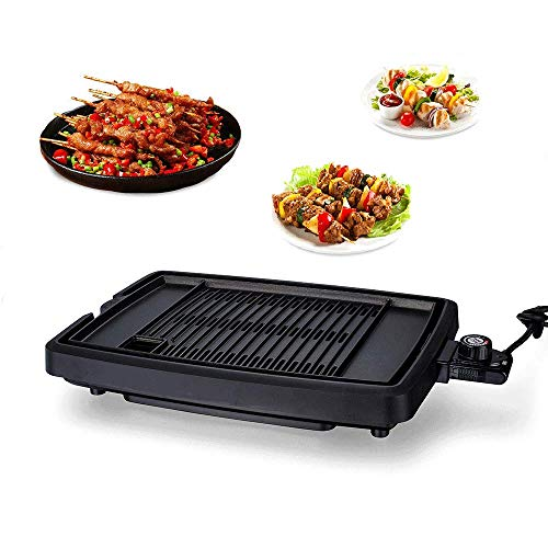 YIZAO Electric Reversible Grill Griddle with Removable Nonstick Plate Temperature Control for Indoor Outdoor Camp
