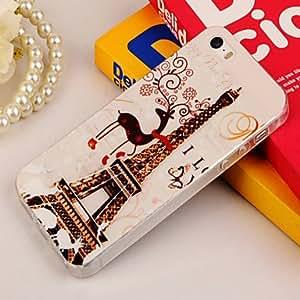 SHOUJIKE Paris Tower Painting TPU Falling Proof Full Body Case for iPhone 5/5S