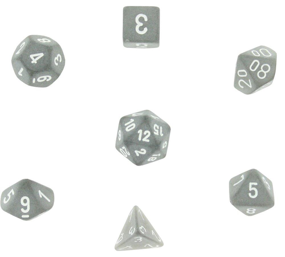 全国総量無料で Polyhedral 7-Die Frosted Dice Chessex Dice Set - with Smoke Set with White Numbers B0011608J0, 毛皮製造ファー*オールール:3abf3c78 --- cliente.opweb0005.servidorwebfacil.com