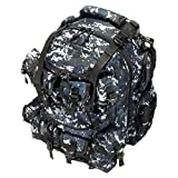 20″ 2400cu. in. Great Tactical Hunting Camping Hiking Backpack OP220 DMBK Digital Camouflage (Navy Blue)